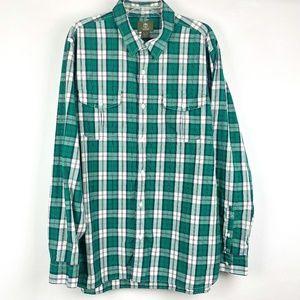 Timberland Men's Green Plaid Long Sleeve Shirt